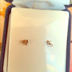 Solid 14k Gold Diamond cut Heart Earrings